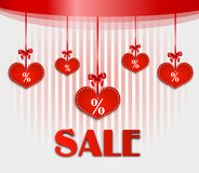Valentines sale card Royalty Free Stock Photos