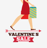 Valentines sale design. Illustration eps10 graphic Royalty Free Stock Image