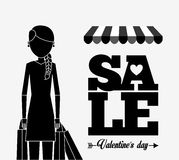Valentines sale design Royalty Free Stock Images