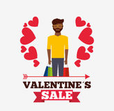Valentines sale design Stock Photo