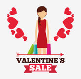Valentines sale design. Illustration eps10 graphic Royalty Free Stock Photo