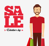 Valentines sale design Stock Images