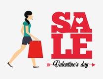 Valentines sale design Stock Photos