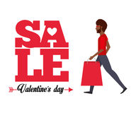 Valentines sale design. Illustration eps10 graphic Stock Photography