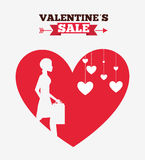 Valentines sale design. Illustration eps10 graphic Royalty Free Stock Images