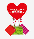 Valentines sale design Stock Photos