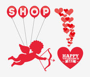 Valentines sale design Royalty Free Stock Photography