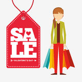 Valentines sale design. Illustration eps10 graphic Royalty Free Stock Photos