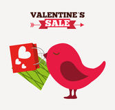 Valentines sale design Stock Photography