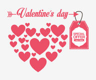 Valentines sale design Royalty Free Stock Photo