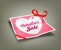 Valentines sale origami paper design Royalty Free Stock Images