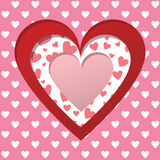 Valentines scrapbooking card Stock Photo