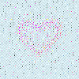Valentines Seamles Polka Dots pattern Stock Photo