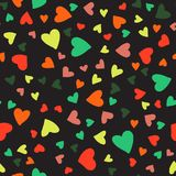 Valentines seamless-07. Abstract seamless pattern with hand drawn hearts. Valentines Day illustration. Design for wallpaper, wrapping paper home textile and Royalty Free Stock Images