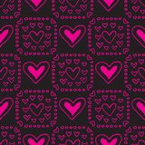 Valentines seamless-28. Abstract seamless pattern with hand drawn hearts. Valentines Day illustration. Design for wallpaper, wrapping paper home textile and Vector Illustration
