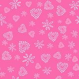 Valentines seamless-21. Abstract seamless pattern with hand drawn hearts. Valentines Day illustration. Design for wallpaper, wrapping paper home textile and Royalty Free Stock Photos