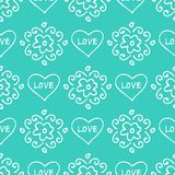 Valentines seamless-22. Abstract seamless pattern with hand drawn hearts. Valentines Day illustration. Design for wallpaper, wrapping paper home textile and Royalty Free Stock Photo