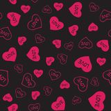 Valentines seamless-25. Abstract seamless pattern with hand drawn hearts. Valentines Day illustration. Design for wallpaper, wrapping paper home textile and Royalty Free Stock Images