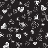 Valentines seamless-12. Abstract seamless pattern with hand drawn hearts. Valentines Day illustration. Design for wallpaper, wrapping paper home textile and Stock Images