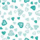 Valentines seamless-16. Abstract seamless pattern with hand drawn hearts. Valentines Day illustration. Design for wallpaper, wrapping paper home textile and royalty free illustration