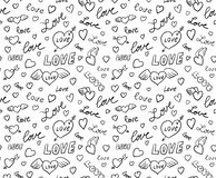 Valentines Seamless Background Royalty Free Stock Image