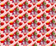 Valentines Seamless Background / Wallpaper Stock Photos