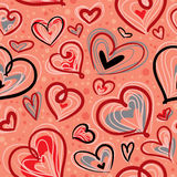 Valentines seamless pattern Stock Photo