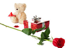 Valentines set in a row Stock Photography