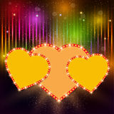 Valentine's shining background with hearts Royalty Free Stock Photos