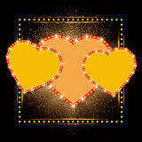 Valentine's shining background with hearts Royalty Free Stock Photo