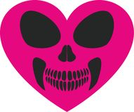 Valentines skull with heart royalty free illustration
