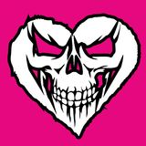 Valentines skull with heart Royalty Free Stock Image