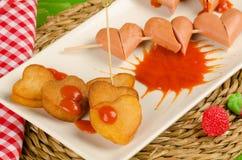 Valentines snack stock photos