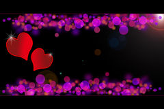 Valentines special - glowing hearts Stock Image