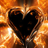 Valentines special - glowing hearts Royalty Free Stock Image