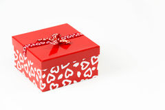 Valentines square candy box isolated Royalty Free Stock Photos