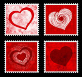 Valentines stamps Stock Photos