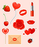 Valentines stickers Stock Photography