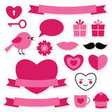Valentines stickers set Royalty Free Stock Photography