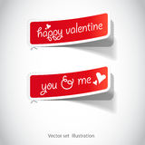 Valentines stickers for the (web) page Stock Images