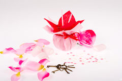 Valentines still life with roses Royalty Free Stock Photos