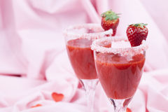 Valentines strawberry drink Stock Photography