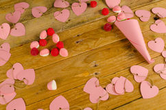 Valentines sweets still life Royalty Free Stock Photos