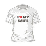 Valentines t-shirt design template Royalty Free Stock Photo