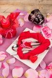 Valentines table stock photos