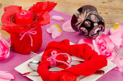 Valentines table decoration royalty free stock photography