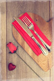 Valentines Table Setting Royalty Free Stock Photo