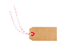 Valentines tag isolated on white background Royalty Free Stock Photos