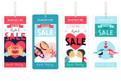 Valentines Tags Sale Royalty Free Stock Images