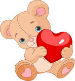 Valentines Teddy Bear Photo libre de droits